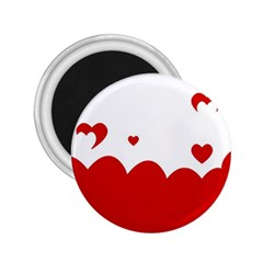 Heart Shape Background Love 2 25  Magnets