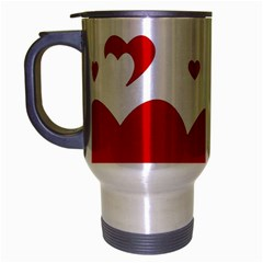 Heart Shape Background Love Travel Mug (silver Gray) by Nexatart