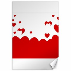 Heart Shape Background Love Canvas 20  X 30