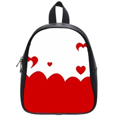 Heart Shape Background Love School Bag (small)