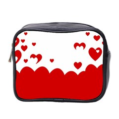 Heart Shape Background Love Mini Toiletries Bag 2 Side by Nexatart