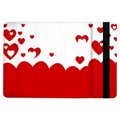 Heart Shape Background Love Ipad Air Flip