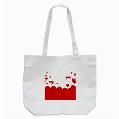 Heart Shape Background Love Tote Bag (white)