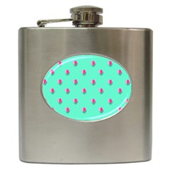 Love Heart Set Seamless Pattern Hip Flask (6 Oz) by Nexatart