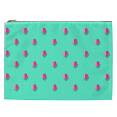Love Heart Set Seamless Pattern Cosmetic Bag (xxl)  by Nexatart