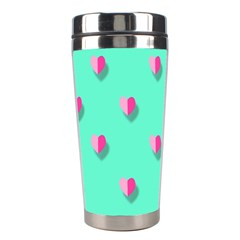Love Heart Set Seamless Pattern Stainless Steel Travel Tumblers by Nexatart