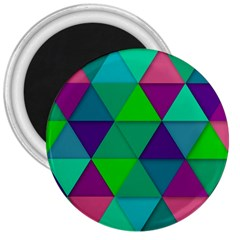 Background Geometric Triangle 3  Magnets by Nexatart
