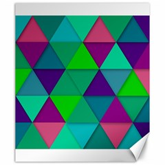 Background Geometric Triangle Canvas 20  X 24   by Nexatart