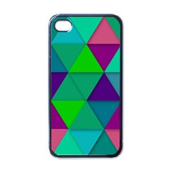 Background Geometric Triangle Apple Iphone 4 Case (black)