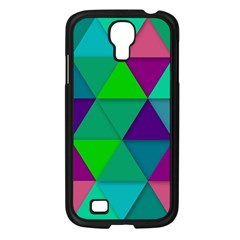 Background Geometric Triangle Samsung Galaxy S4 I9500/ I9505 Case (black)