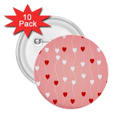 Heart Shape Background Love 2 25  Buttons (10 Pack)