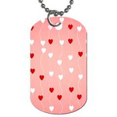 Heart Shape Background Love Dog Tag (one Side) by Nexatart