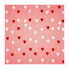 Heart Shape Background Love Medium Glasses Cloth (2 Side)
