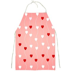 Heart Shape Background Love Full Print Aprons by Nexatart
