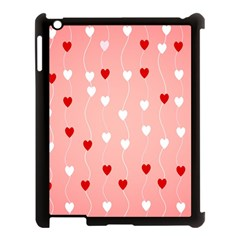 Heart Shape Background Love Apple Ipad 3/4 Case (black)