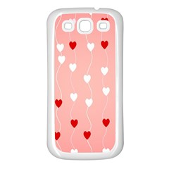 Heart Shape Background Love Samsung Galaxy S3 Back Case (white)