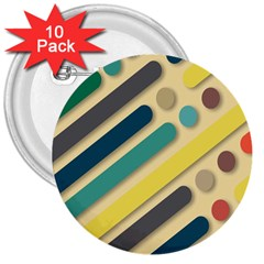 Background Vintage Desktop Color 3  Buttons (10 Pack)  by Nexatart