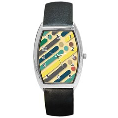 Background Vintage Desktop Color Barrel Style Metal Watch