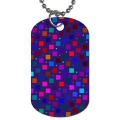 Squares Square Background Abstract Dog Tag (two Sides)