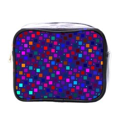 Squares Square Background Abstract Mini Toiletries Bags