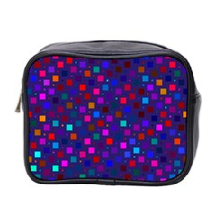 Squares Square Background Abstract Mini Toiletries Bag 2 Side