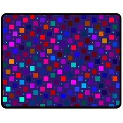 Squares Square Background Abstract Fleece Blanket (medium)