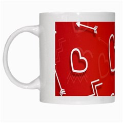 Background Valentine S Day Love White Mugs by Nexatart