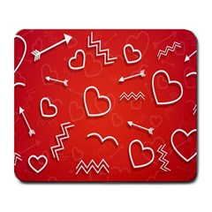 Background Valentine S Day Love Large Mousepads by Nexatart