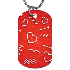Background Valentine S Day Love Dog Tag (two Sides) by Nexatart