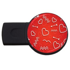Background Valentine S Day Love Usb Flash Drive Round (2 Gb) by Nexatart