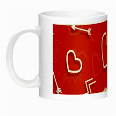 Background Valentine S Day Love Night Luminous Mugs by Nexatart