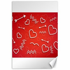 Background Valentine S Day Love Canvas 20  X 30   by Nexatart