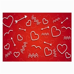 Background Valentine S Day Love Large Glasses Cloth (2 Side) by Nexatart