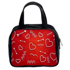 Background Valentine S Day Love Classic Handbags (2 Sides)