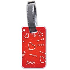 Background Valentine S Day Love Luggage Tags (two Sides)