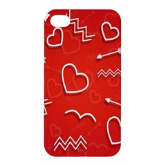 Background Valentine S Day Love Apple Iphone 4/4s Premium Hardshell Case