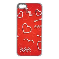 Background Valentine S Day Love Apple Iphone 5 Case (silver)