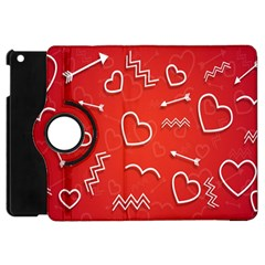 Background Valentine S Day Love Apple Ipad Mini Flip 360 Case by Nexatart