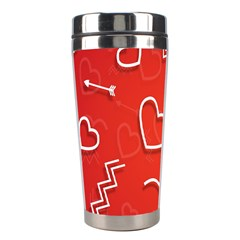 Background Valentine S Day Love Stainless Steel Travel Tumblers by Nexatart
