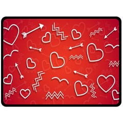 Background Valentine S Day Love Double Sided Fleece Blanket (large)
