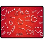 Background Valentine S Day Love Double Sided Fleece Blanket (Large)  80 x60  Blanket Front