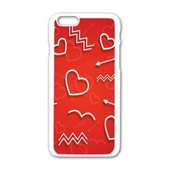 Background Valentine S Day Love Apple Iphone 6/6s White Enamel Case by Nexatart