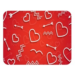 Background Valentine S Day Love Double Sided Flano Blanket (large)  by Nexatart