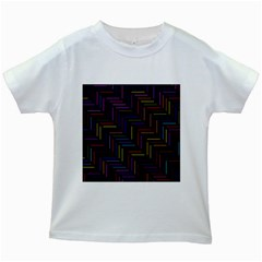 Lines Line Background Kids White T-shirts by Nexatart