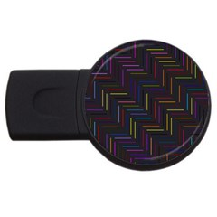 Lines Line Background Usb Flash Drive Round (2 Gb)