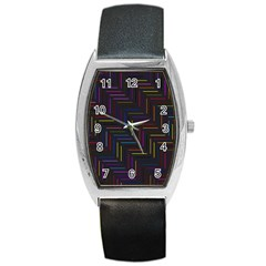 Lines Line Background Barrel Style Metal Watch