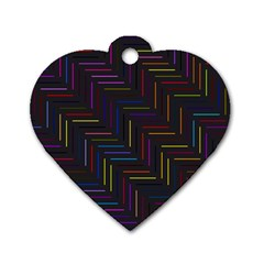 Lines Line Background Dog Tag Heart (one Side)