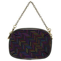 Lines Line Background Chain Purses (two Sides)