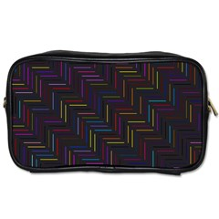 Lines Line Background Toiletries Bags