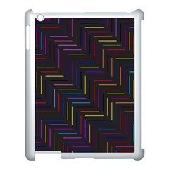 Lines Line Background Apple Ipad 3/4 Case (white)